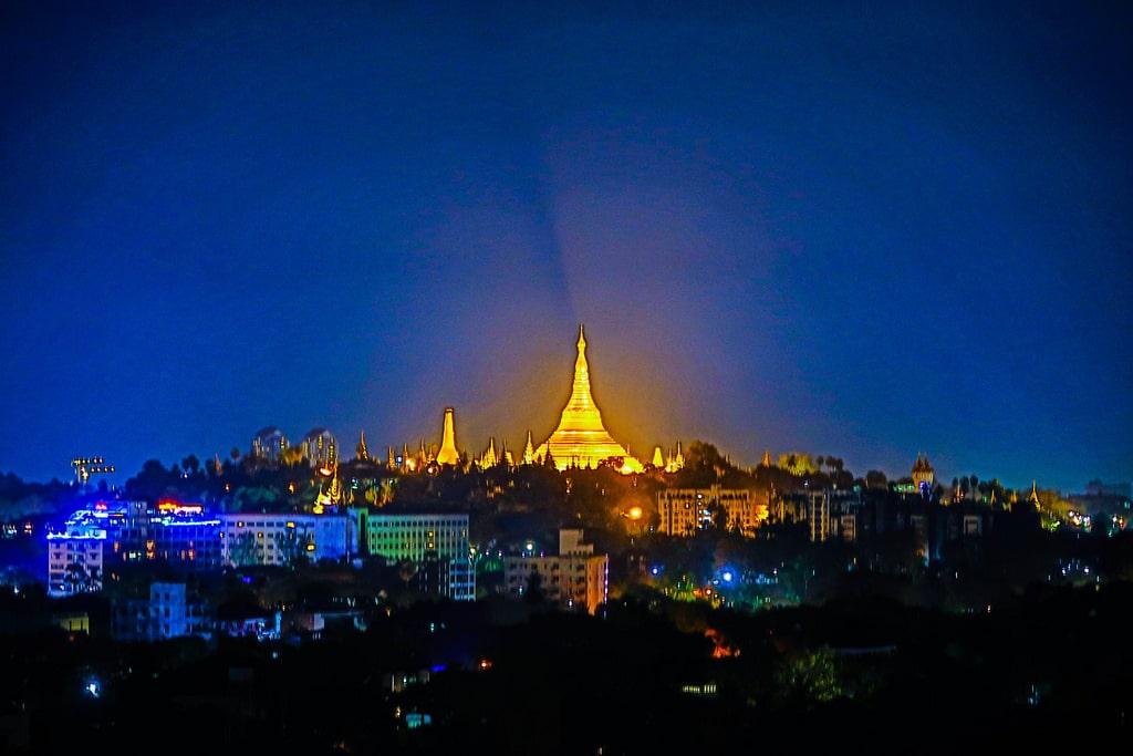 Asia Urban pagoda view